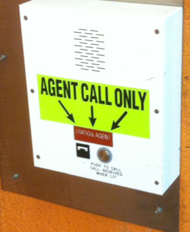 So I'm confused. Is this the button to call the Agent or to get the elevator? If only it were clearly marked.